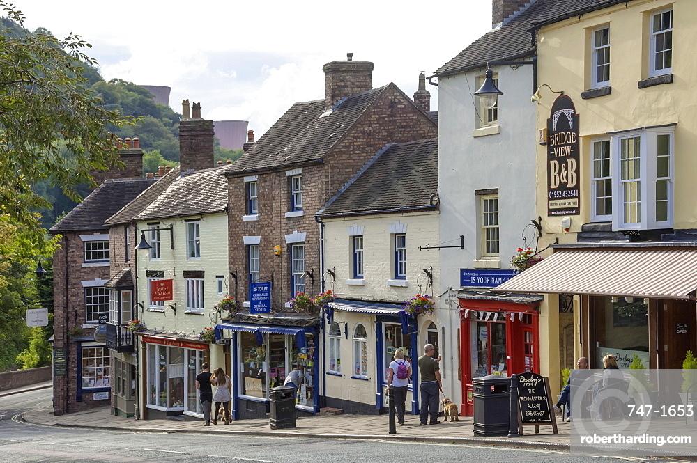 Shops on the Hill at Ironbridge, Shropshire, England, United Kingdom, Europe