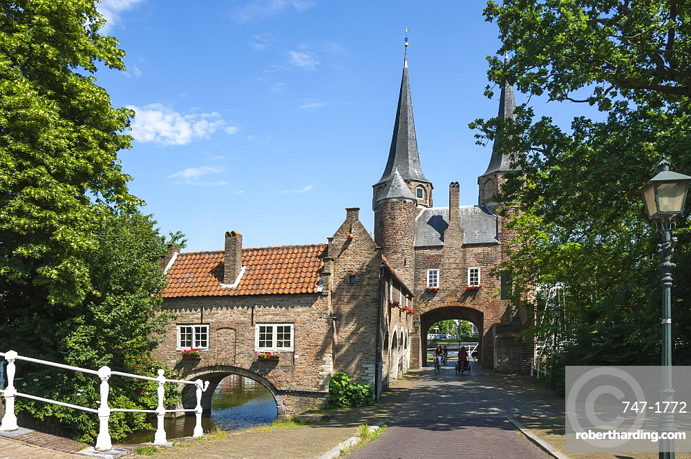 The 16th century East Port Gate, Delft, Holland, Europe