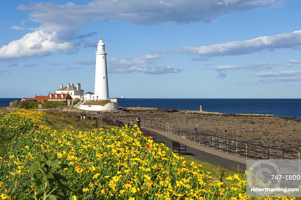 St. Mary's Lighthouse, Whitley Bay, Northumbria, England, United Kingdom, Europe