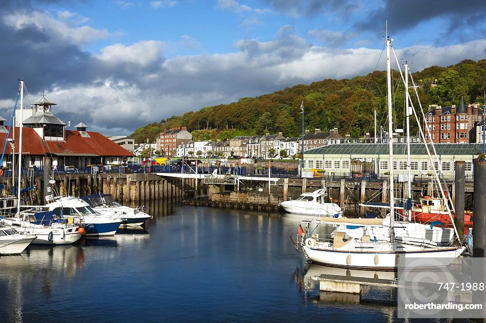Harbour area, Rothesay, Isle of Bute, Western Scotland, UK