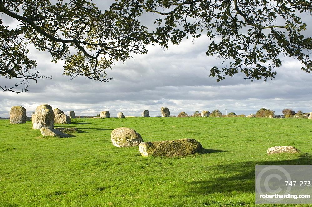 Long Meg Druids Circle, Little Salkeld, Eden Valley, Cumbria, England, United Kingdom, Europe