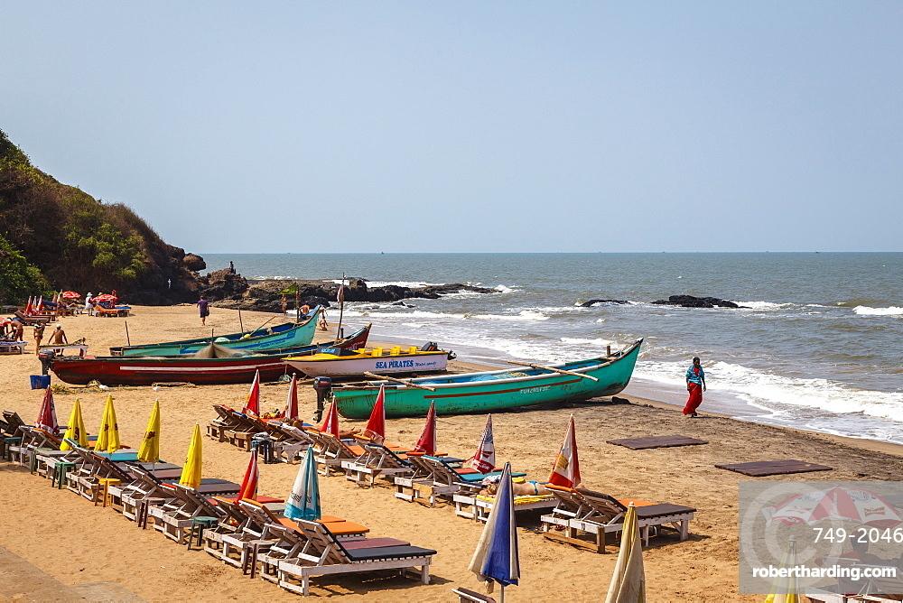 South Anjuna beach, Goa, India, Asia