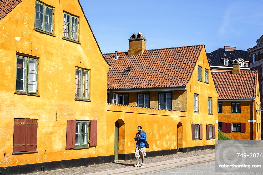 Nyboder district with old houses from the 17th century, Copenhagen, Denmark, Scandinavia, Europe