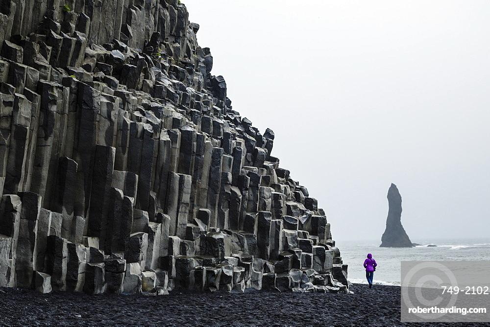 Basalt columns at the beach, Vik i Myrdal, Iceland, Polar Regions