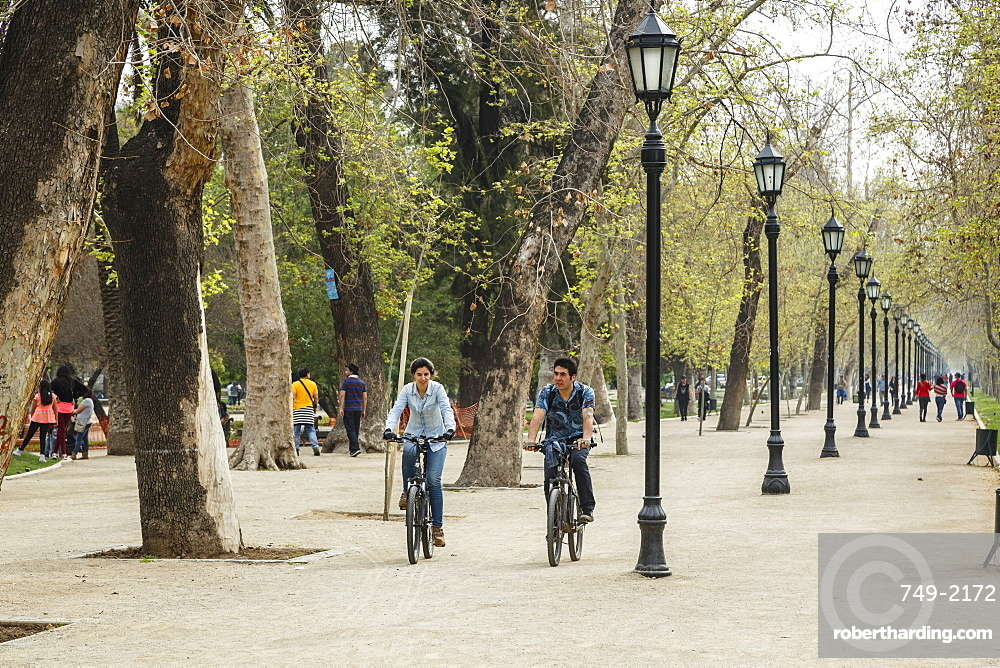 People at Parque Forestal, Santiago, Chile, South America