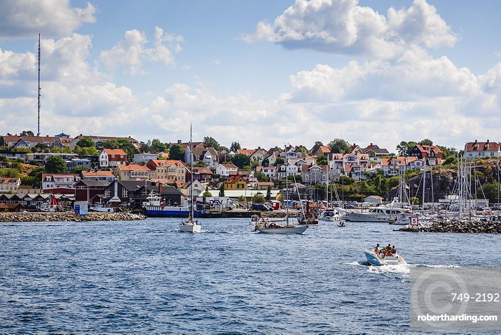 View over Stromstad, Vastra Gotaland region, Sweden, Scandinavia, Europe