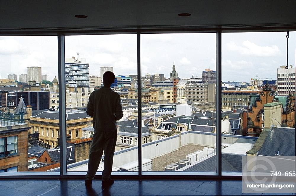 Skyline of city centre, Glasgow, Scotland, United Kingdom, Europe