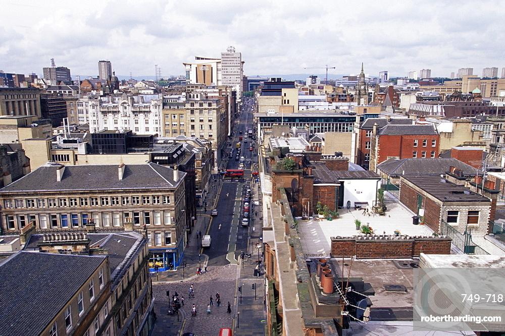 City centre skyline, Glasgow, Scotland, United Kingdom, Europe