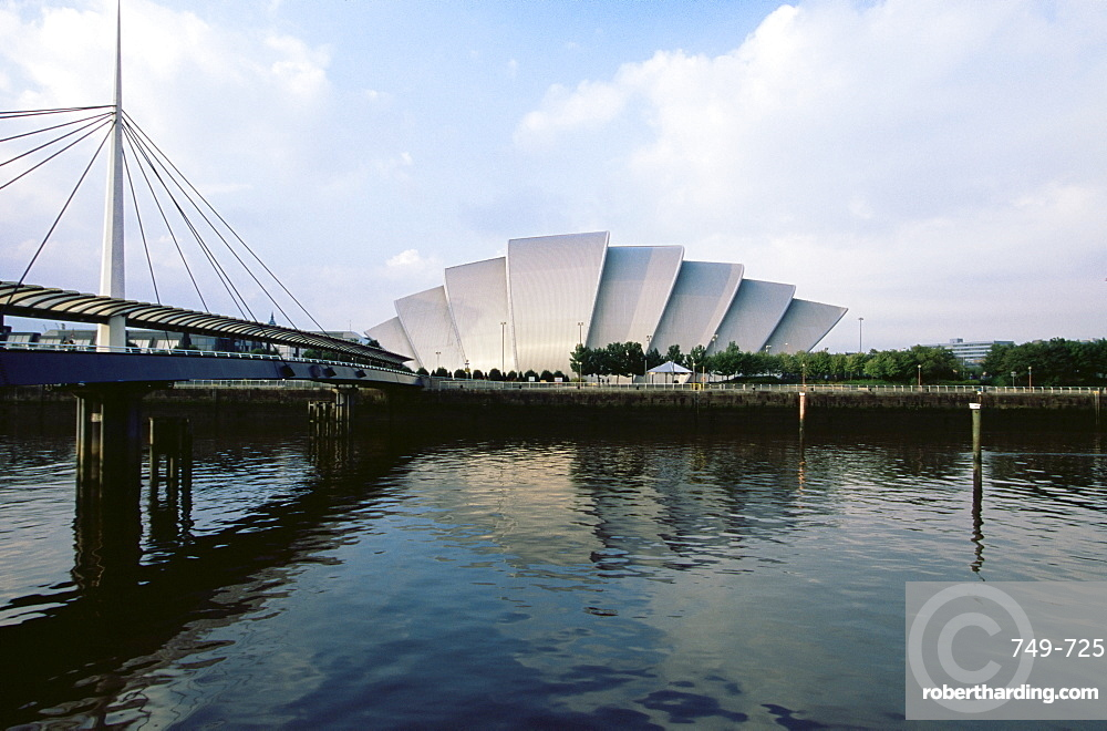 The Clyde Auditorium, known as the Armadillo, designed by Sir Norman Foster, Glasgow, Scotland, United Kingdom, Europe