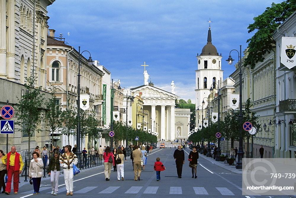 Gedimino Pospektas, the main street of the modern city, Vilnius, Lithuania, Baltic States, Europe
