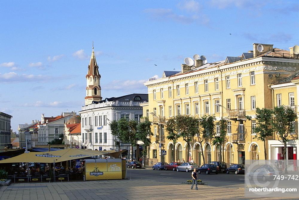 Cafe at Didzioji Gatve (main street), Old City, Vilnius, Lithuania, Baltic States, Europe
