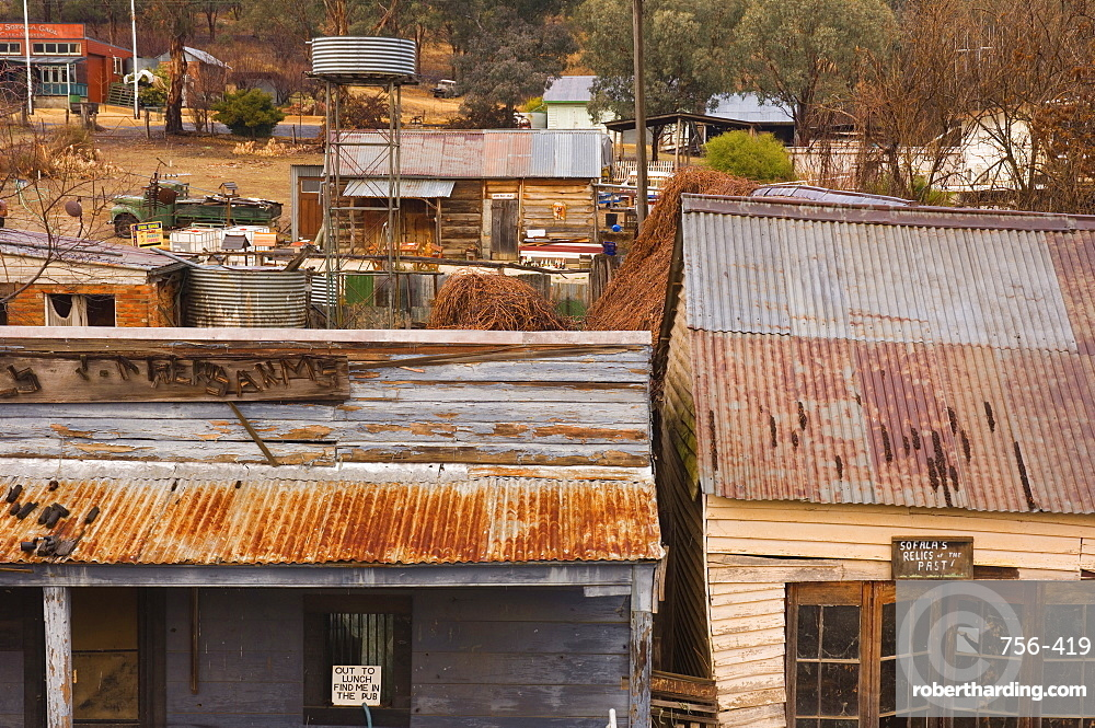 Houses, Sofala, historic gold mining town, New South Wales, Australia, Pacific