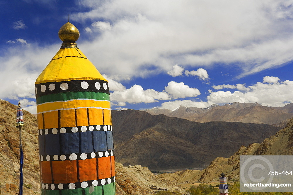 View of the Indus valley from Hemis gompa (monastery), Hemis, Ladakh, Indian Himalayas, India, Asia