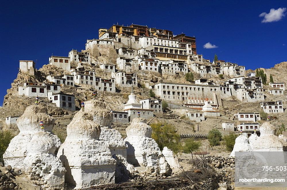 Tikse (Tiksay) gompa (monastery), Tikse (Tiksay), Ladakh, Indian Himalayas, India, Asia