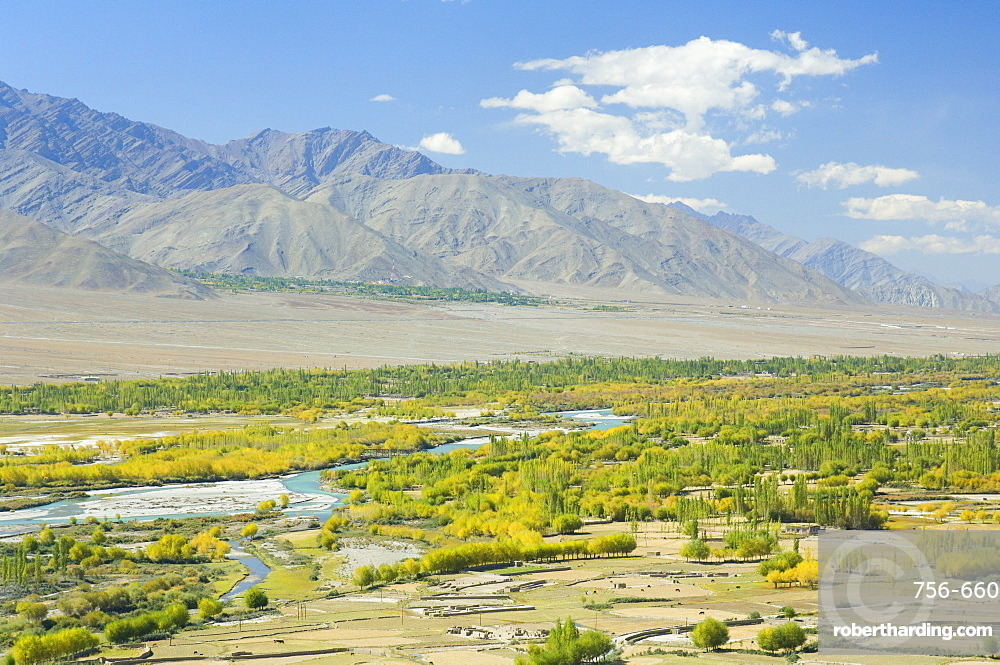Indus Valley and Ladakh Range, Tikse (Tiksay), Ladakh, Indian Himalayas, India, Asia