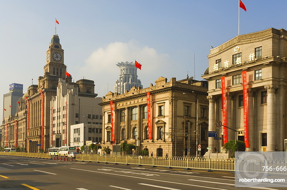 The Bund, Huangpu District, Shanghai, China, Asia