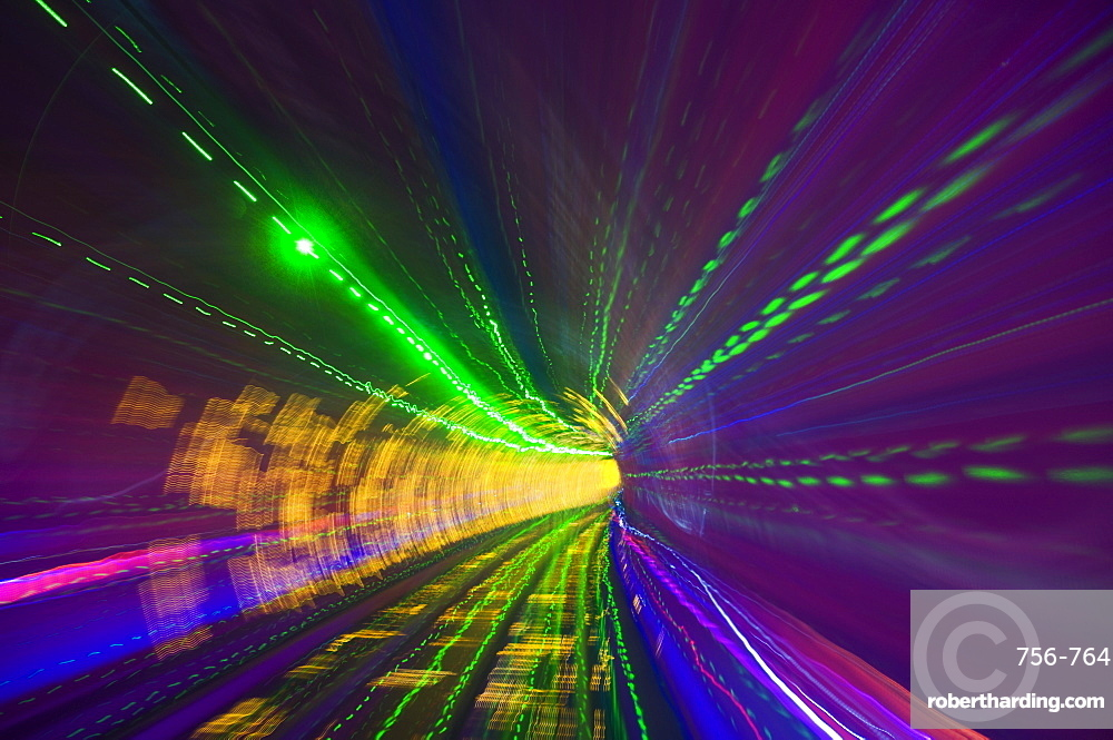 West Bund Sightseeing Tunnel, Huangpu District, Shanghai, China, Asia