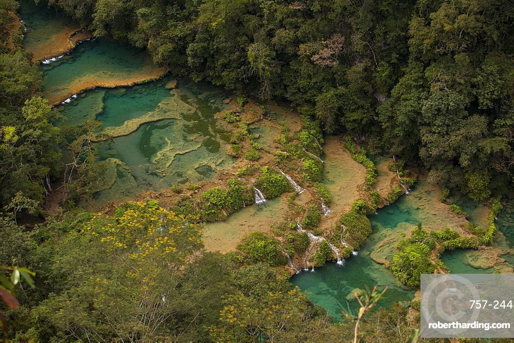 Semuc Champey waterfalls, Guatemala, Central America