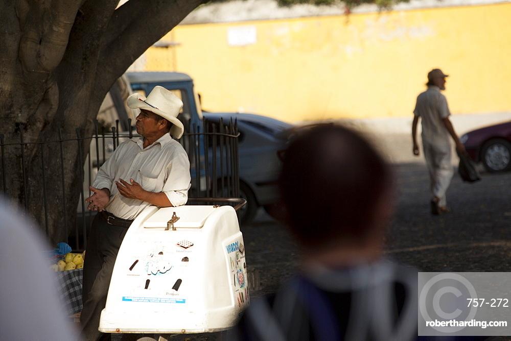 Ice cream man, Antigua, Guatemala, Central America