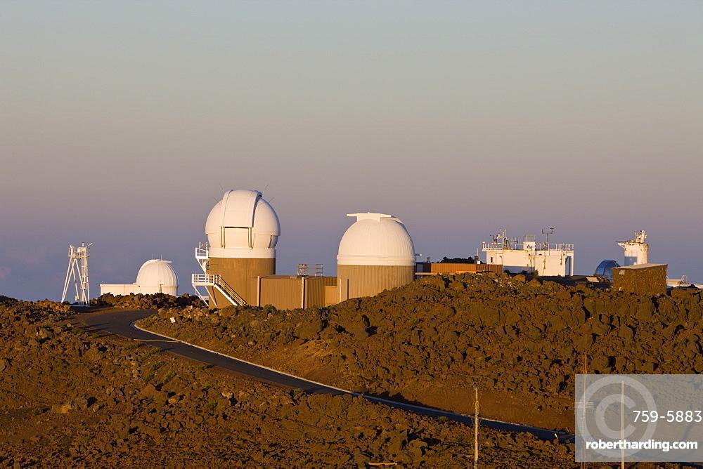 Observatorium at Mount Haleakala Volcano, Maui, Hawaii, USA