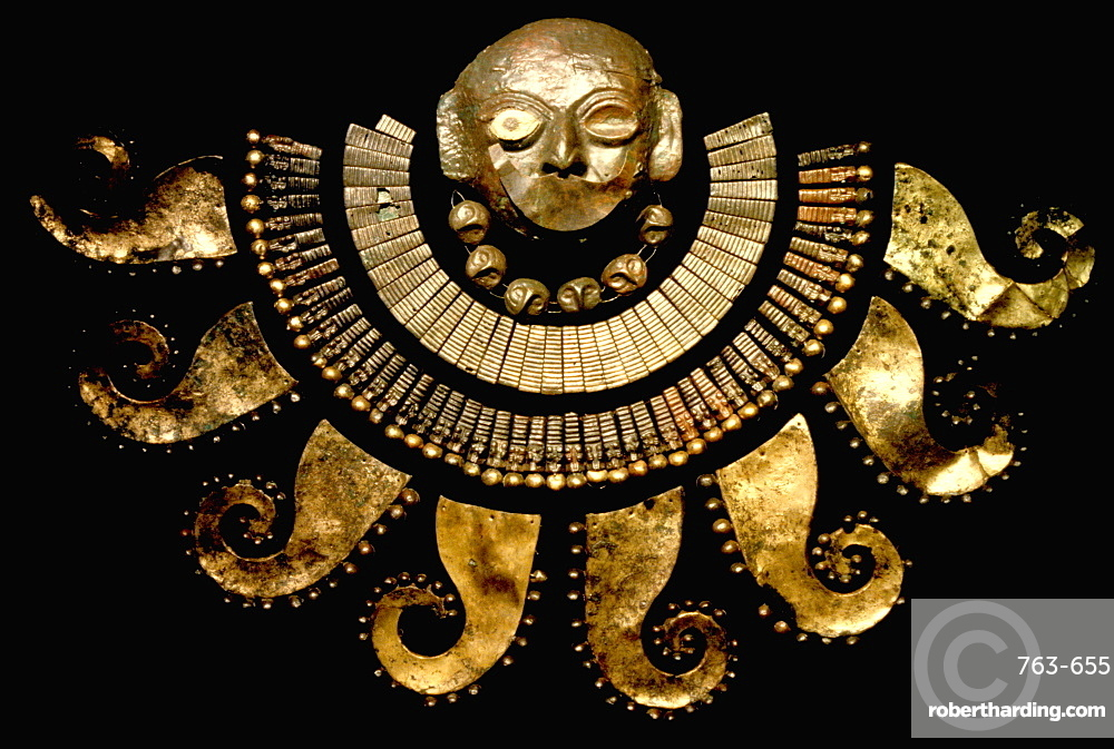 Gold Artifacts Moche (Mochica) Culture,