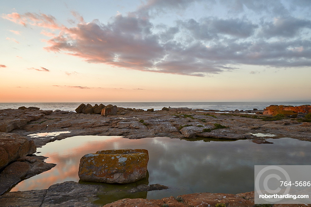 Clouds at sunset along the coast, Elands Bay, South Africa, Africa