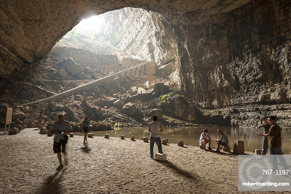 Karst Cave at Xinwen Stone Sea Global Geo Park, Sichuan Province, China, Asia