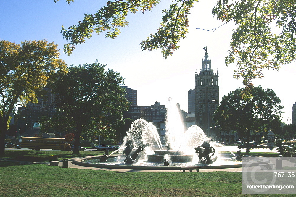 J.C. Nichols Fountain, Country Club Plaza, Kansas City, Missouri, United States of America, North America
