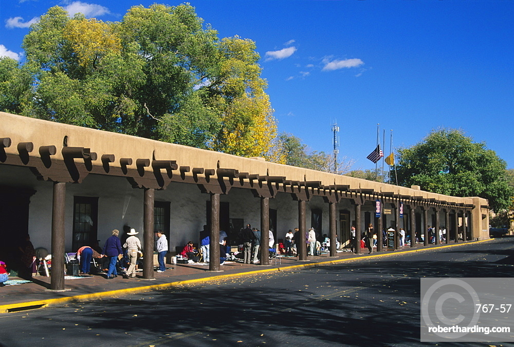 Palace of the Governors, Santa Fe, New Mexico, United States of America, North America