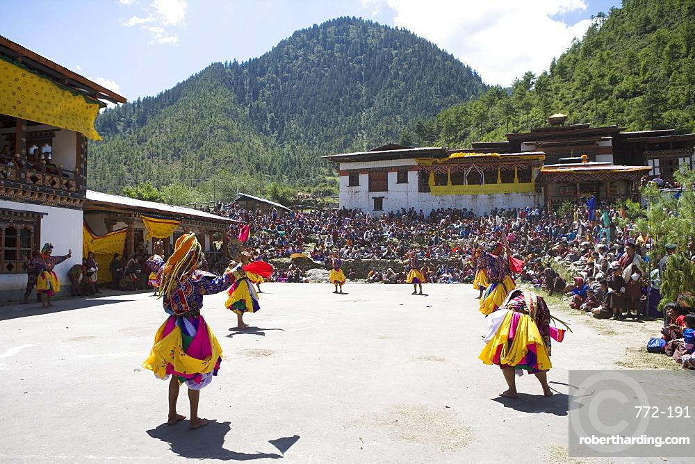 Buddhist Festival (Tsechus), Haa Valley, Bhutan, Asia