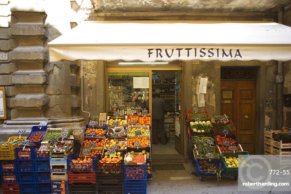 Grocery store, Cortona, Tuscany, Italy, Euope