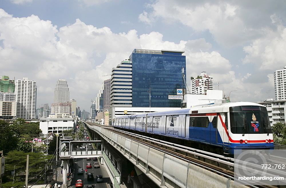 BST (Bangkok Sky Train), Bangkok, Thailand, Southeast Asia, Asia