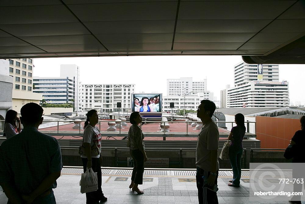 BST (Bangkok Sky Train) station at Siam, Bangkok, Thailand, Southeast Asia, Asia