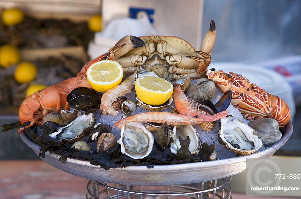 Seafood, Nice, Alpes Maritimes, Provence, Cote d'Azur, French Riviera, France, Europe