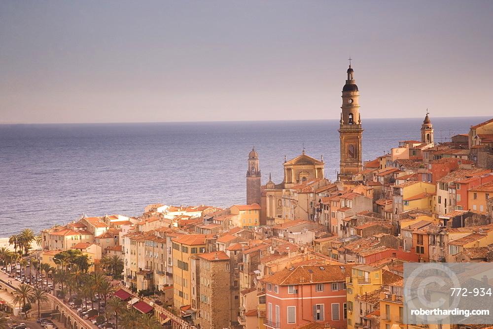 Menton, Alpes Maritimes, Provence, Cote d'Azur, French Riviera, France, Mediterranean, Europe