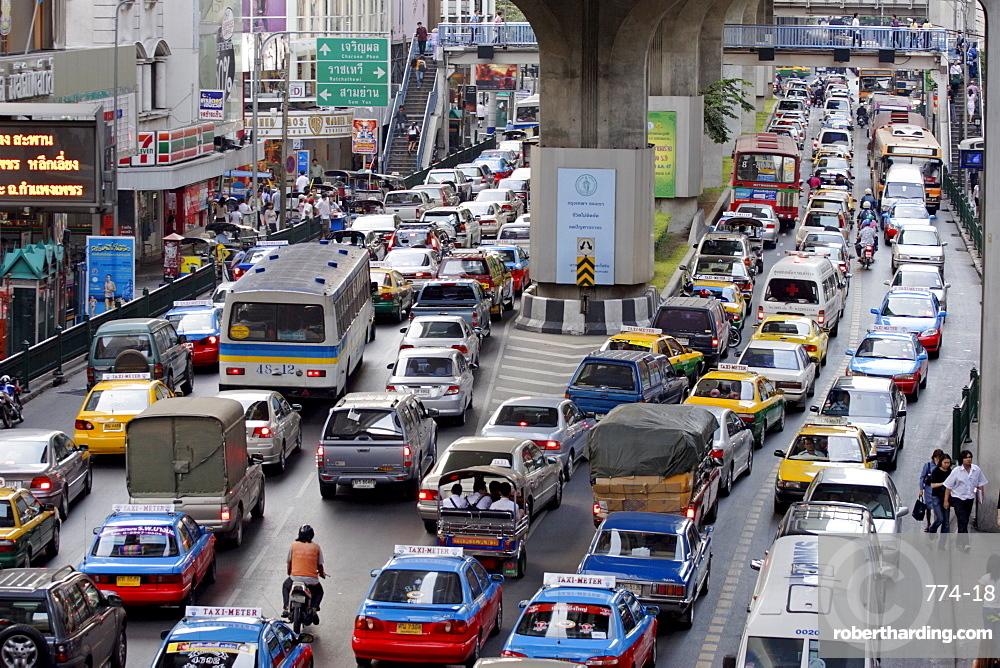 Traffic chaos in Bangkok, Thailand, Southeast Asia, Asia