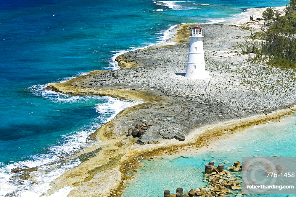 Paradise Island Lighthouse, Nassau Harbour, New Providence Island, Bahamas, West Indies, Central America