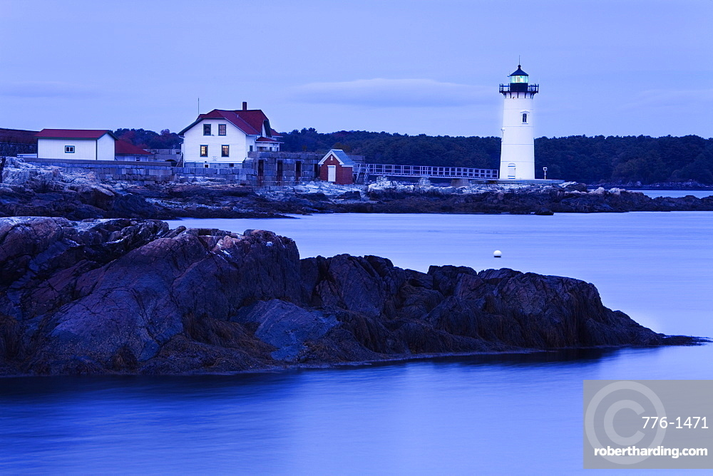 Fort Constitution Lighthouse, Portsmouth, New Hampshire, New England, United States of America, North America
