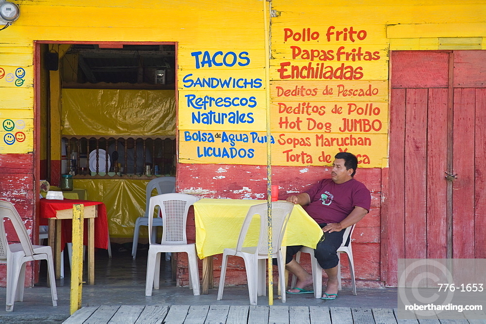 Restaurant in Puerto Corinto, Department of Chinandega, Nicaragua, Central America
