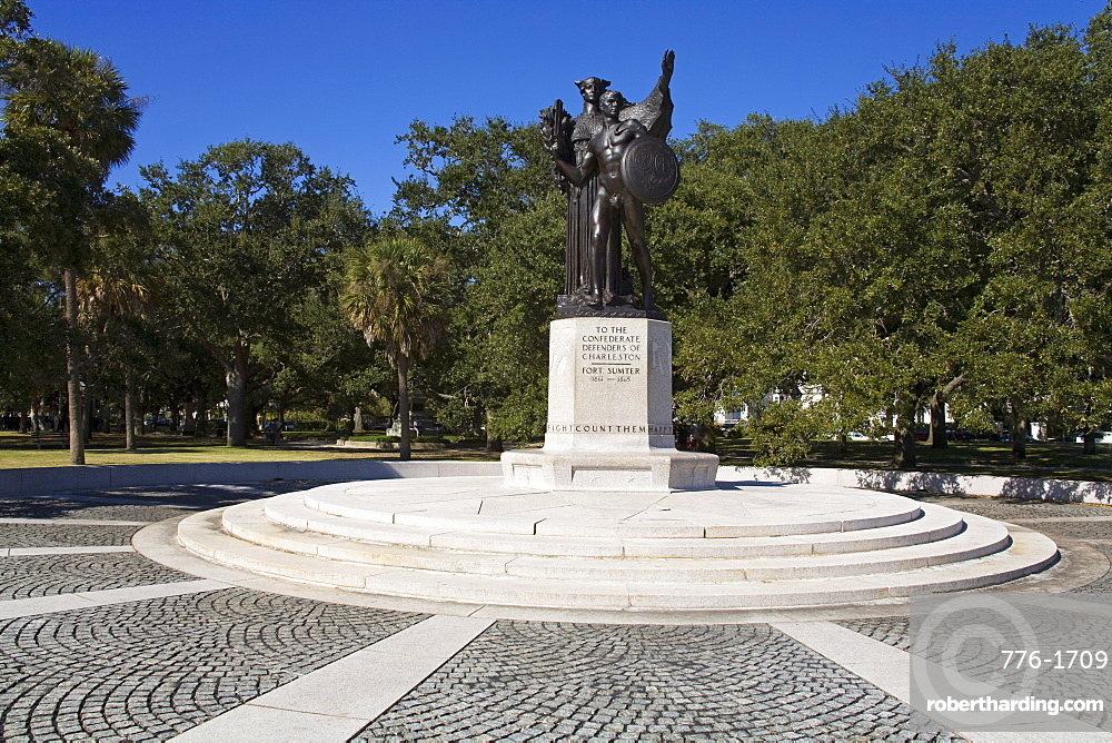 Sumter Monument in The Battery, White Point Gardens, Charleston, South Carolina, United States of America, North America
