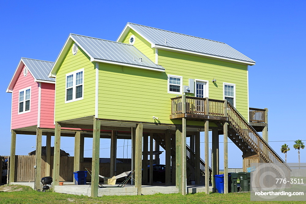 Beach Houses In North Stock Photo