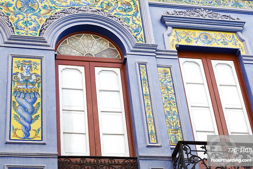 Tilework on Nicolas Estevanez Street, Santa Cruz de Tenerife, Tenerife Island, Canary Islands, Spain, Europe, Europe