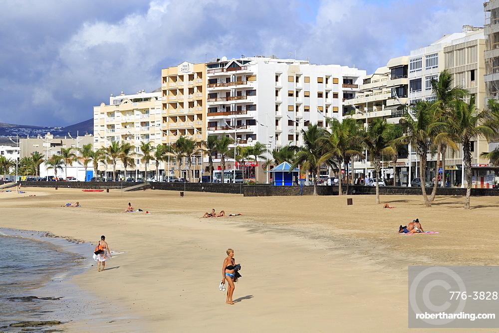 Reducto Beach, Arrecife, Lanzarote Island, Canary Islands, Spain, Atlantic, Europe