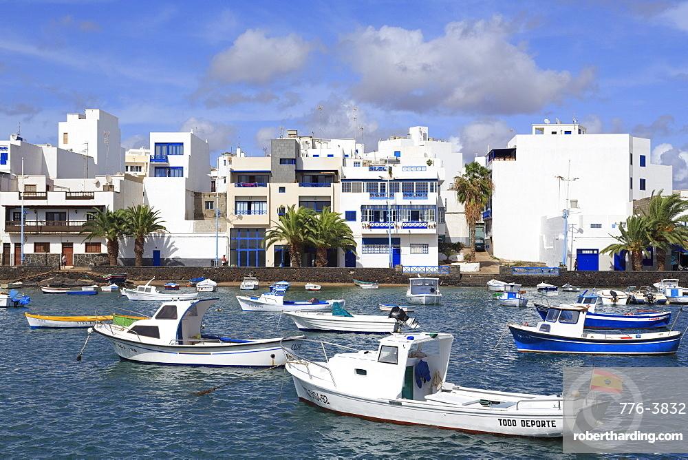 Boats in Charco de San Gines, Arrecife, Lanzarote Island, Canary Islands, Spain, Atlantic, Europe