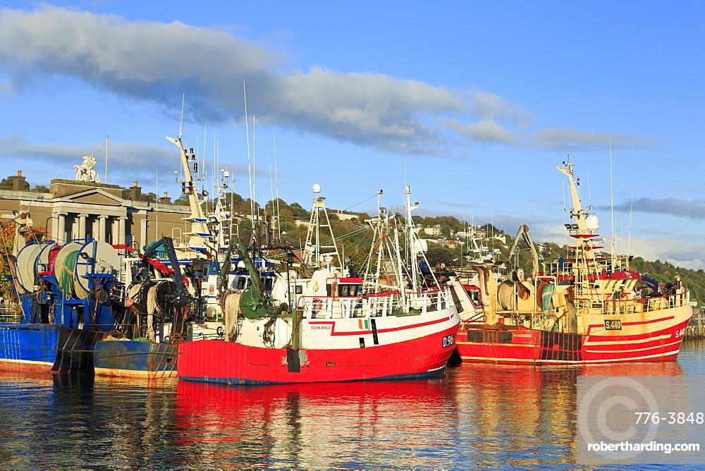 Trawlers on Penrose Wharf, Cork City, County Cork, Munster, Republic of Ireland, Europe