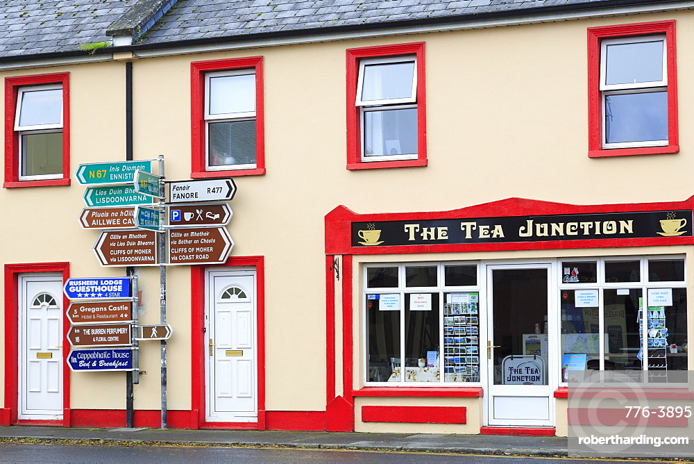 Cafe in Ballyvaughan Town, County Clare, Munster, Republic of Ireland, Europe