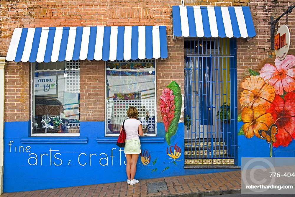 Craft store on Young Street, St. George's, Grenada, Windward Islands, Lesser Antilles, West Indies, Caribbean, Central America