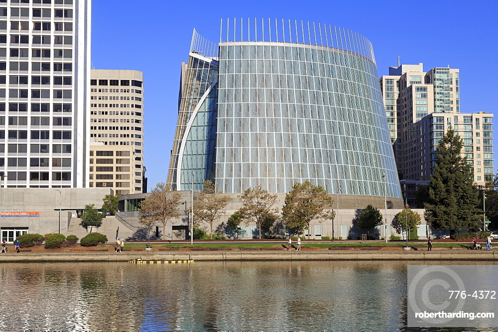 Cathedral of Christ the Light and Lake Merritt, Oakland, California, United States of America, North America