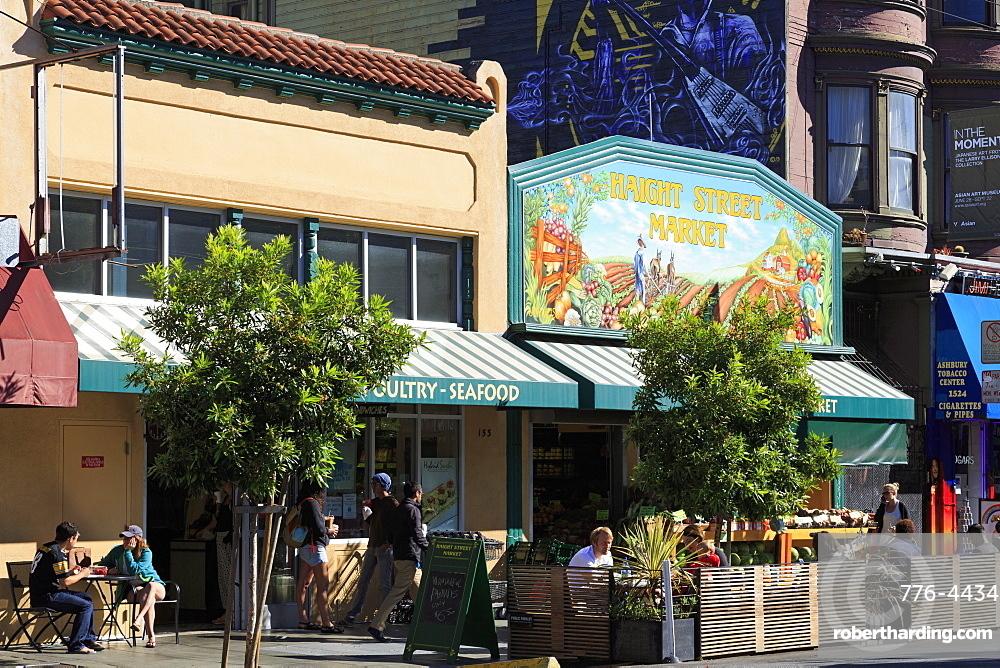 Market in Haight-Ashbury District, San Francisco, California, United States of America, North America