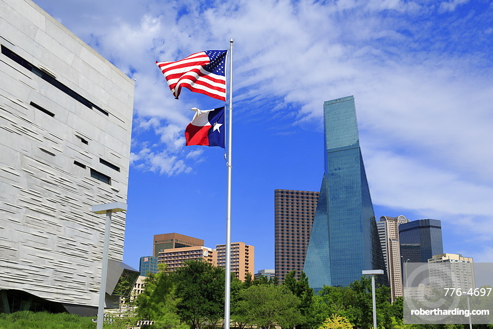 Perot Museum and Fountain Place Tower, Dallas, Texas, United States of America, North America